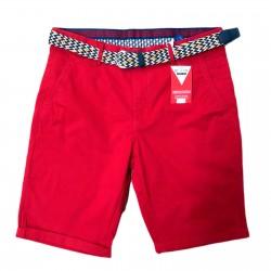 Bermuda roja con cinturón