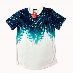 camiseta de flores bordado de moda