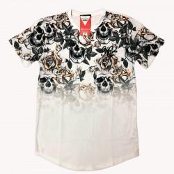 camiseta calavera bordado