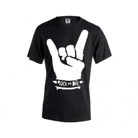 camiseta rock manga corta