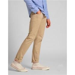 Pantalón de hombre de verano con 5 bolsillos color beige